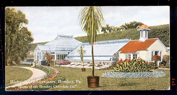 In 1909, shortly after High Point was completed, a conservatory was built adjacent to the home's gardens.
